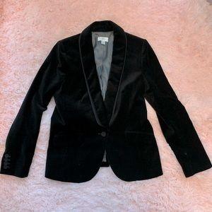 Ann Taylor Loft Black velvet tuxedo jacket- 10